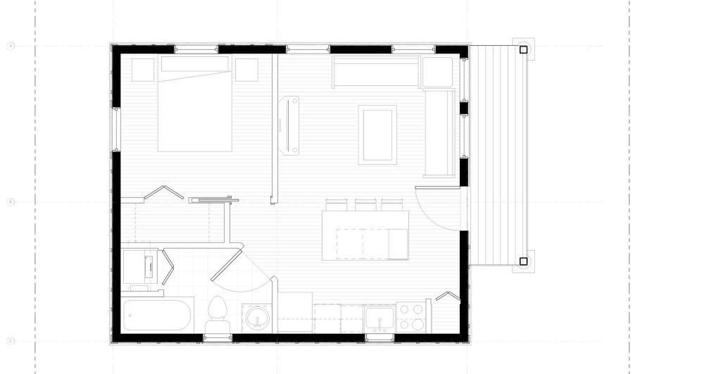 Deck ADU Floor Plan
